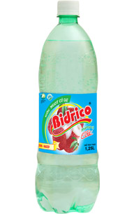 Bidrico Carbonated Lychee flavor Soft drink 1,25L x 12 btls