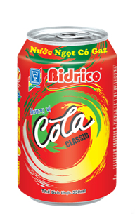 Bidrico Carbonated Cola flavor 330ml x 24can
