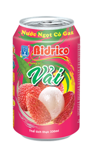 Bidrico Carbonated Lychee flavor 330ml x 24can