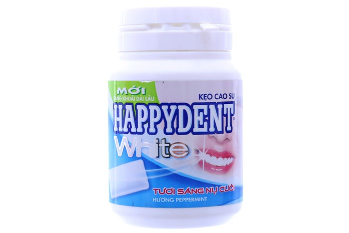Happydent White chewing gum 6 jars x 56 gram