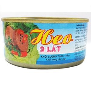 Vissan 2 slice pork 150gr x 72 cans