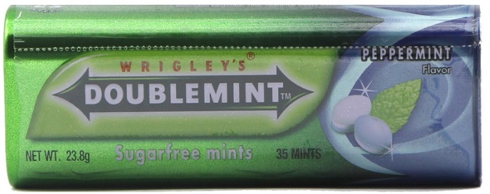 Wrigley's Doublemint Chewing Gum Spearmint 23.8gr