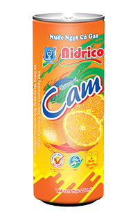 Bidrico Carbonated Oranges flavor 250ml x 24can