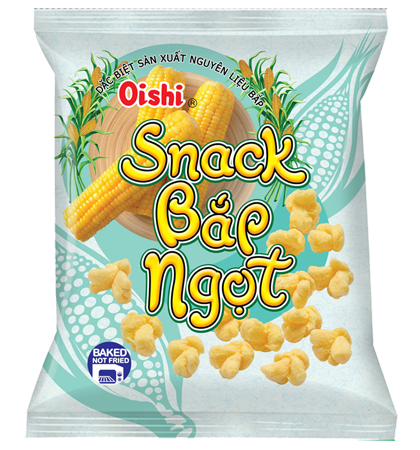 oishi snack sweet corn shrimp flavor 45gr