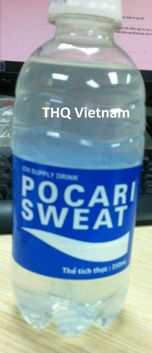 Pocari Sweat drinking water