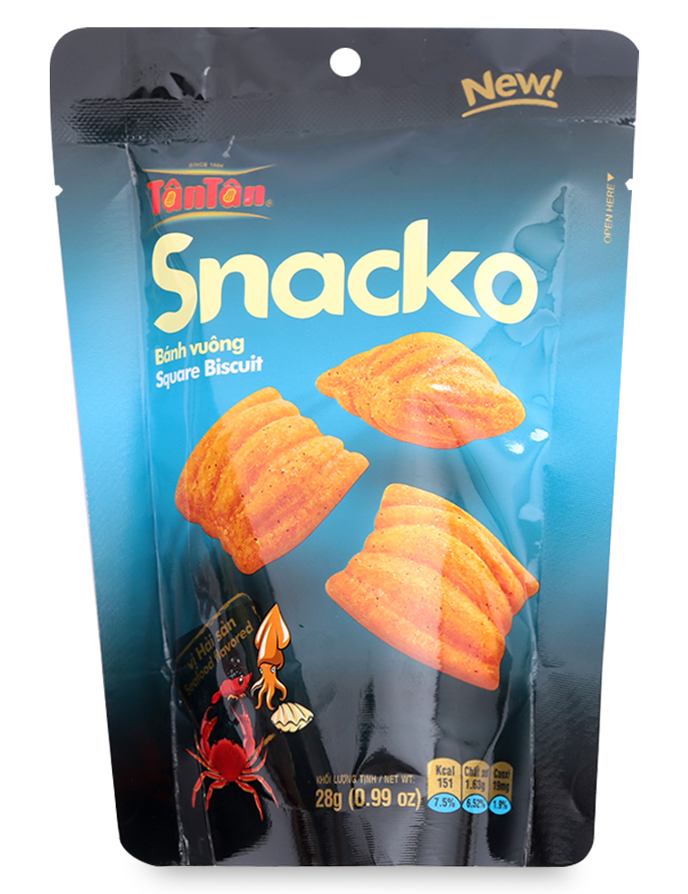 Snacko Square Biscuit Seafood 25gr