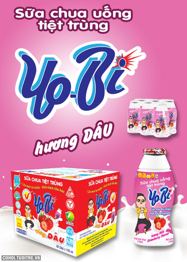 Pasteurized Yoghurt Strawberry flavor 110ml x 60 btls