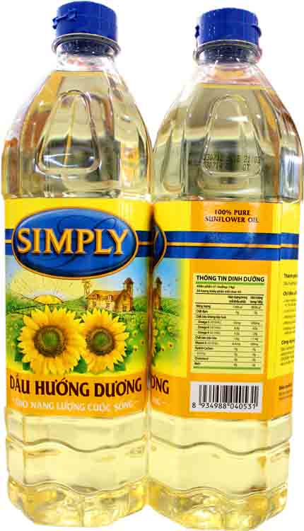 Simply sunflower cooking oil 1L