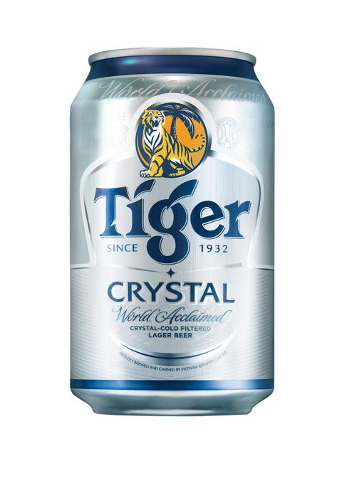 Tiger Crystal beer 330ml in can