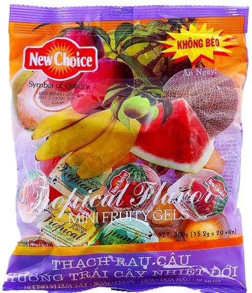 Jelly New Choice Tropical Flavour 300gr