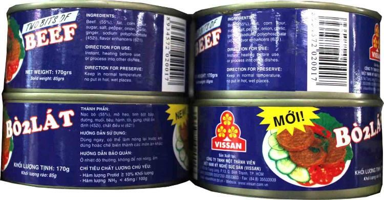 Vissan 2 slice beef 170gr x 12 cans