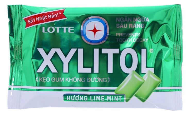 Lotte Gum Xylitol LimeMint Blister 11.6gr x 20 box