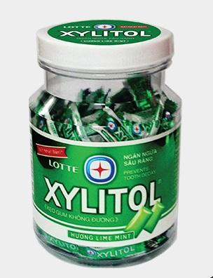 Lotte Gum Xylitol LimeMint Jar 290gr