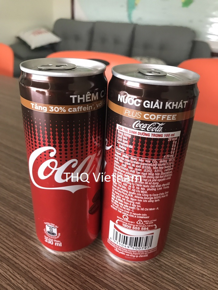 Coca Cola Carbonated drink Plus Coffee 330ml Can