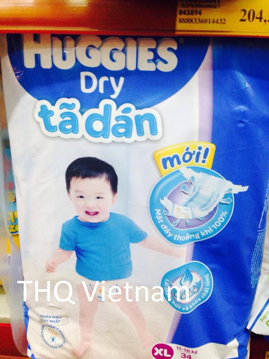 Huggies Dry Diaper XL 34 pcs x 4 packs